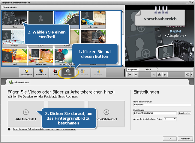 Wie konvertiert man AVI in DVD? Schritt 6