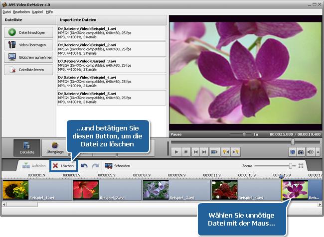 Wie vereinigt man mehrere Videodateien zu einer Datei? Schritt 3
