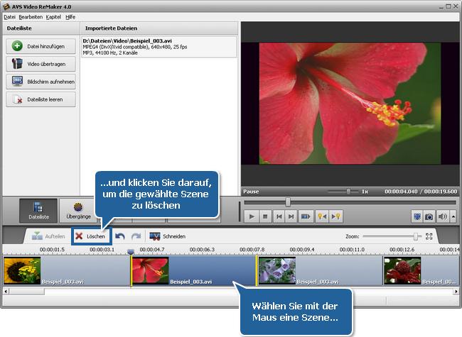 Wie teilt man eine Videodatei mit dem AVS Video ReMaker? Schritt 4