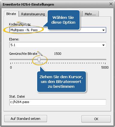 Wie führt man die Multipass-Umwandlung mit dem AVS Video Converter durch? Schritt 6
