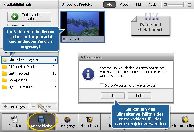 Wie beginnt man die Arbeit mit dem AVS Video Editor? Schritt 2