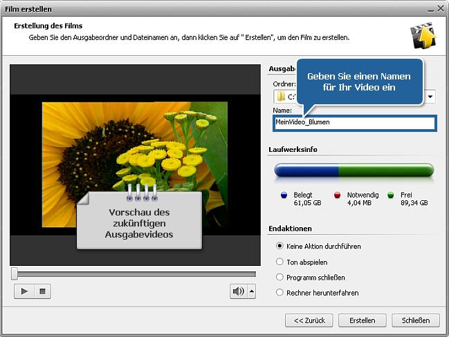Wie speichert man das Projekt oder Video im AVS Video Editor? Schritt 2