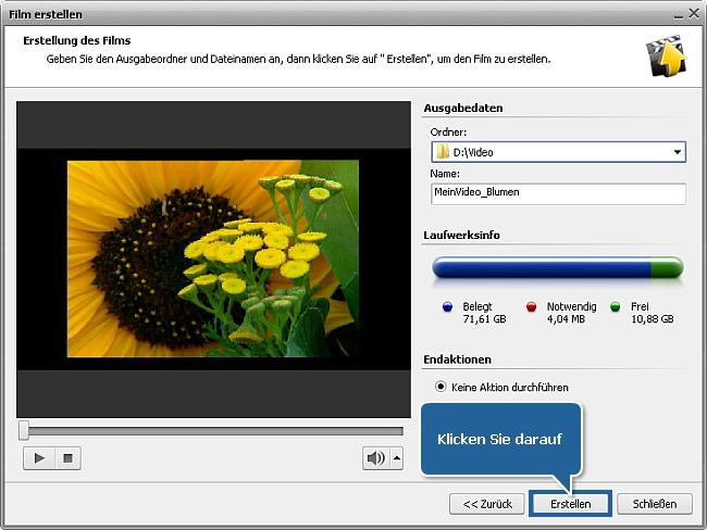 Wie speichert man das Projekt oder Video im AVS Video Editor? Schritt 3