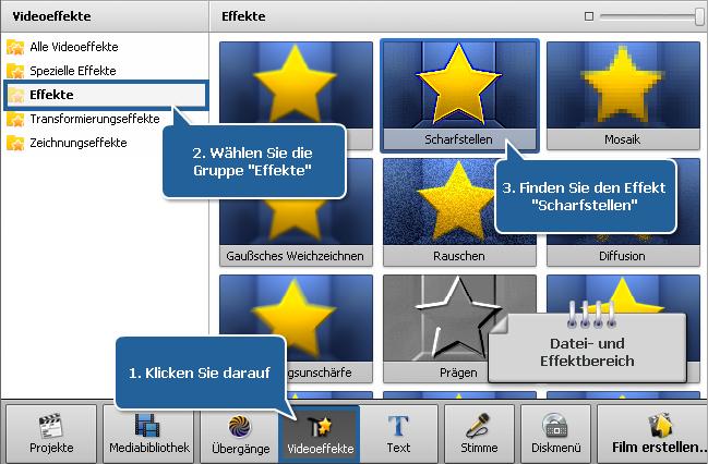 Wie stellt man verschwommenes Video mit dem AVS Video Editor wiederher? Schritt 1