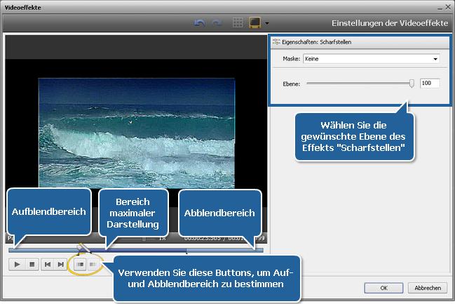 Wie stellt man verschwommenes Video mit dem AVS Video Editor wiederher? Schritt 3