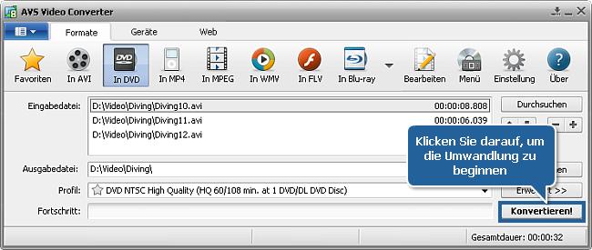 Wie konvertiert man AVI in DVD? Schritt 7