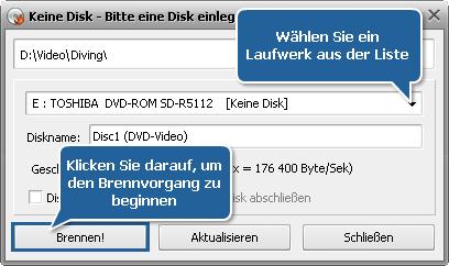 Wie konvertiert man AVI in DVD? Schritt 8