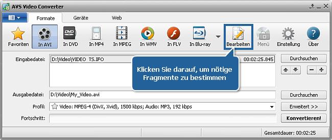 Wie wandelt man Heim-DVD-Episoden in einzelne Dateien um? Schritt 5