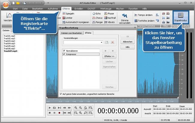 Wie normalisiert man das Tonniveau in mehreren Audiotracks? Schritt 3