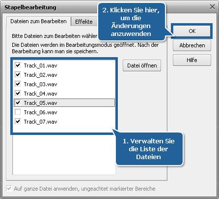 Wie normalisiert man das Tonniveau in mehreren Audiotracks? Schritt 4