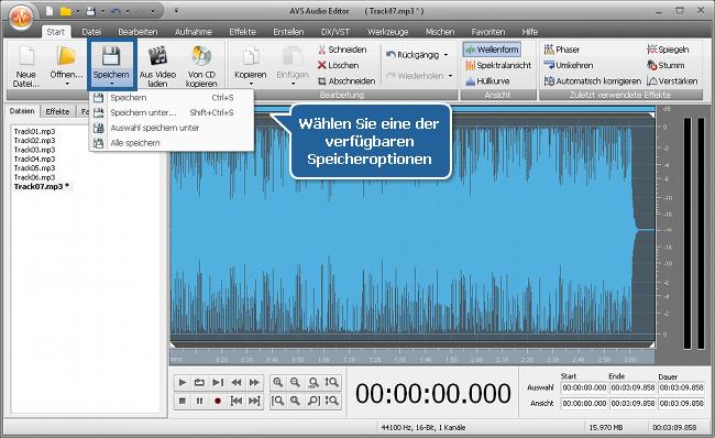 Wie normalisiert man das Tonniveau in mehreren Audiotracks? Schritt 5