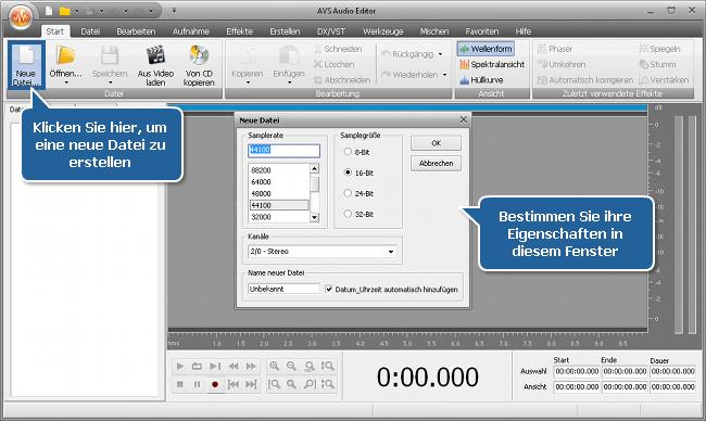 Wie nimmt man Musik mit dem AVS Audio Editor auf? Schritt 2