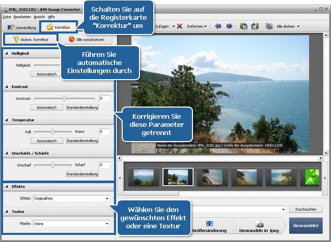 Wie kann man RAW-Dateien bearbeiten? Schritt 4