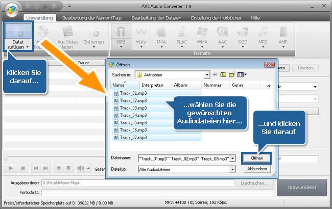 Wie erstellt man Hörbücher mit dem AVS Audio Converter? Schritt 2