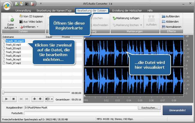 Wie erstellt man Hörbücher mit dem AVS Audio Converter? Schritt 3