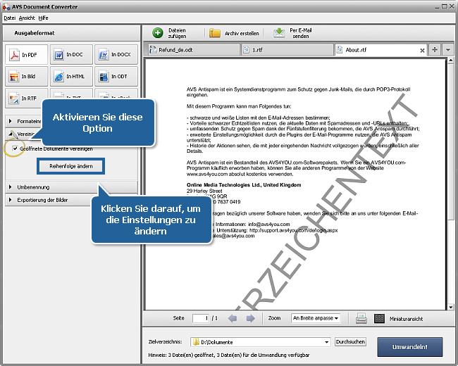 Wie kann man DOC/DOCX-Dateien ins PDF-Format umwandeln? Schritt 4