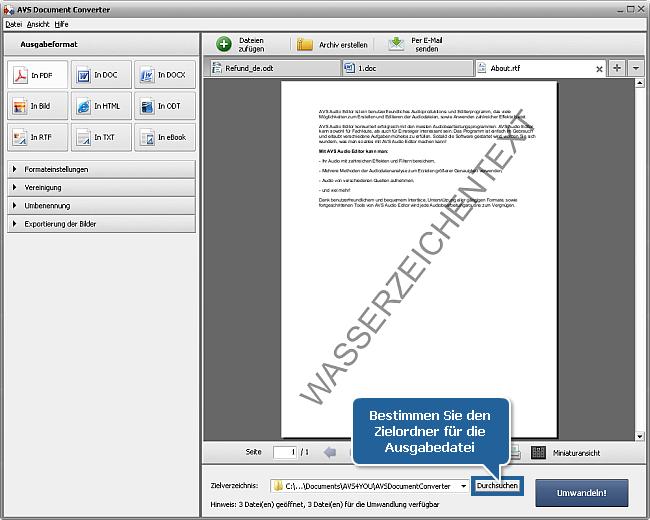 Wie kann man DOC/DOCX-Dateien ins PDF-Format umwandeln? Schritt 7