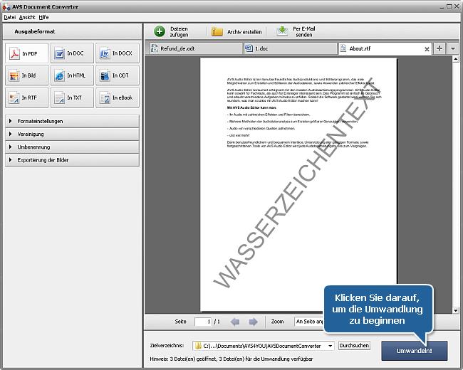 Wie kann man DOC/DOCX-Dateien ins PDF-Format umwandeln? Schritt 8