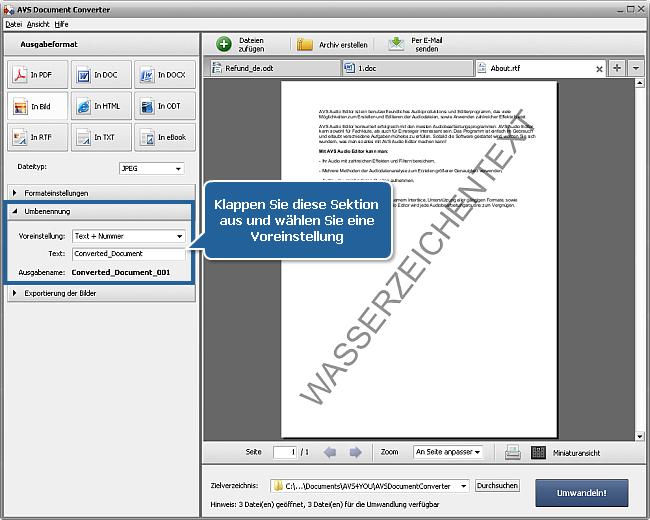 Wie kann man Wasserzeichen zu Ihren Dokumenten hinzufügen? Schritt 5