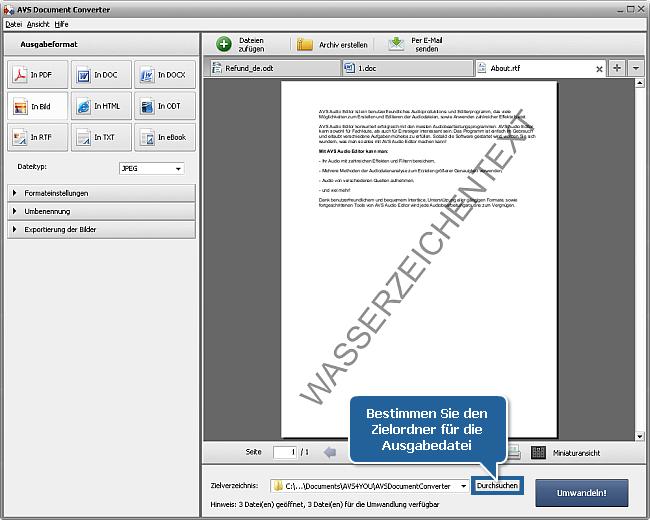 Wie kann man Wasserzeichen zu Ihren Dokumenten hinzufügen? Schritt 6