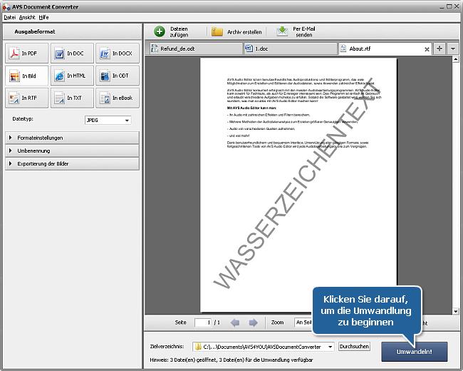 Wie kann man Wasserzeichen zu Ihren Dokumenten hinzufügen? Schritt 7