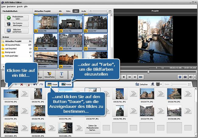 Wie erstellt man eine Diashow mit dem AVS Video Editor? Schritt 1