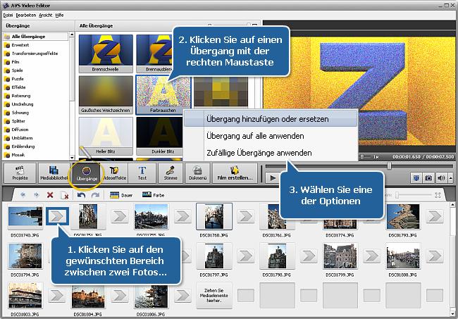 Wie erstellt man eine Diashow mit dem AVS Video Editor? Schritt 2