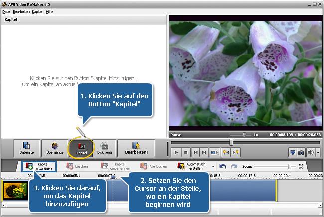 Wie erstellt man ein Diskmenü mit dem AVS Video ReMaker? Schritt 4