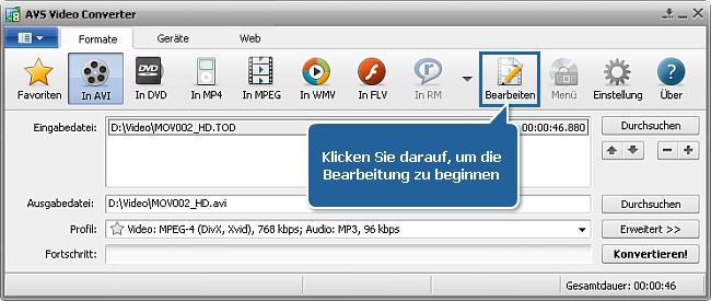 Wie konvertiert man ein HD-Video? Schritt 5