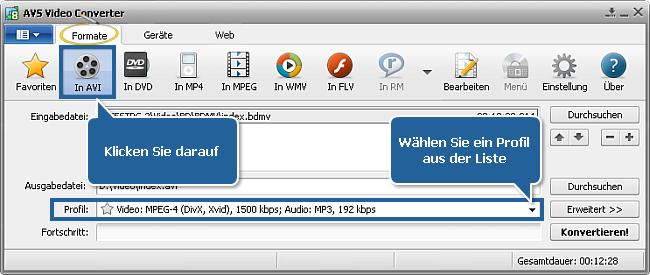 Wie konvertiert man ein Blu-ray-Video? Schritt 3