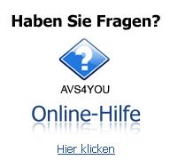 AVS4YOU-Online-Hilfe. Finden Sie Antworten auf Ihre Fragen. Klicken Sie hier zum Lesen.