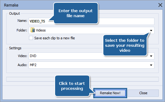 How to edit home DVD video with AVS Video ReMaker? Step 6