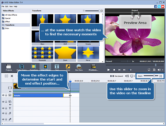 How to rotate your video using AVS Video Editor? Step 2