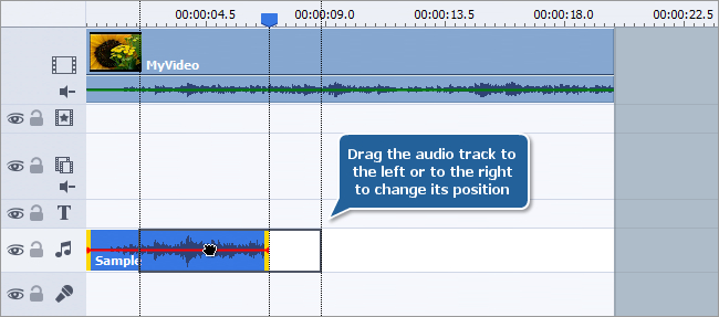 How to add audio to your video? Step 1