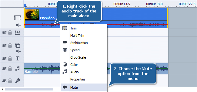 How to add audio to your video? Step 2