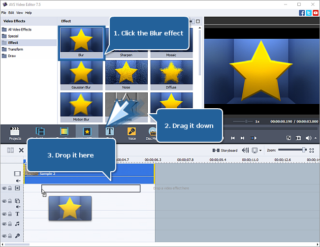 How to blur your video? Step 1