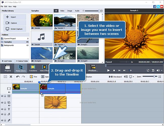 How to split videos using AVS Video Editor? Step 3