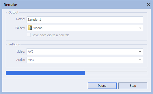 How to merge several video files into a single file? Step 5
