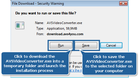 How to download and install the AVS4YOU software on your PC? Step 1