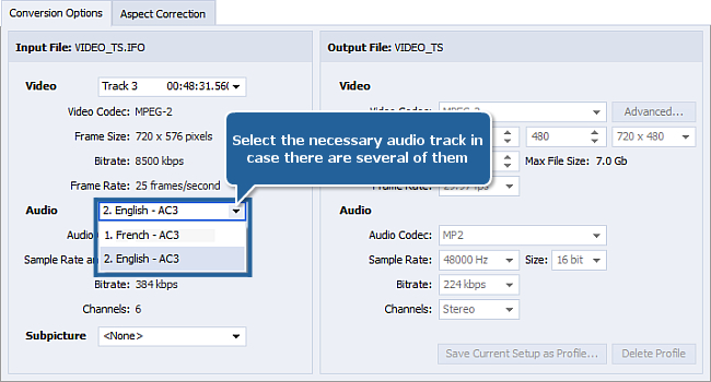 How to extract audio from a video file? Step 3