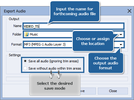How to extract audio from a video file? Step 5