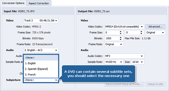 How to convert video with subtitles?