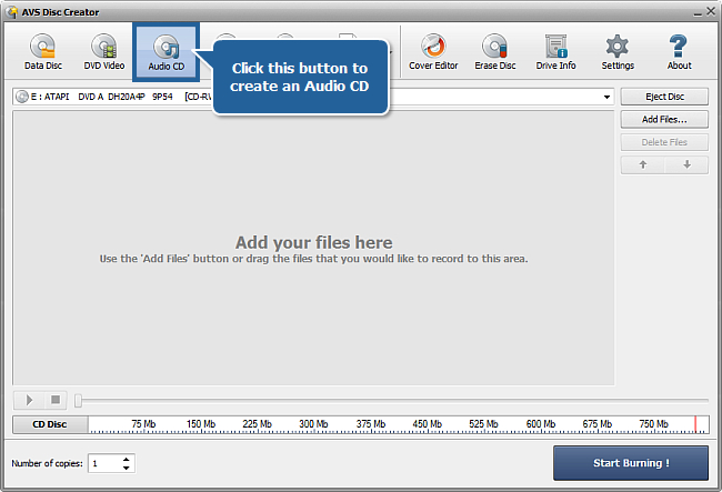 How to create an Audio CD from different audio formats? Step 2