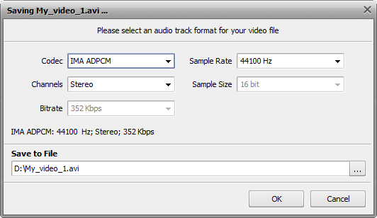 How to edit the audio track of your home video? Step 5