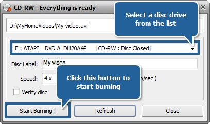 How to create an MPEG-4 compatible CD (DivX or Xvid)? Step 6