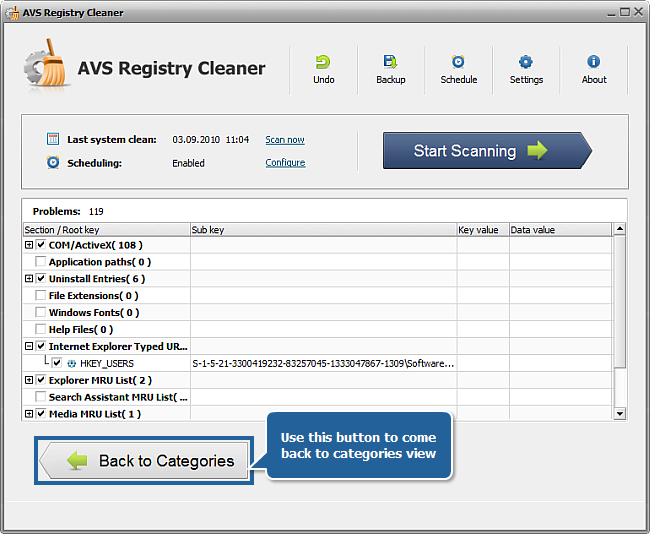 How to fix PC errors with AVS Registry Cleaner? Step 4