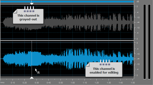 How to edit individual channels with AVS Audio Editor? Step 3