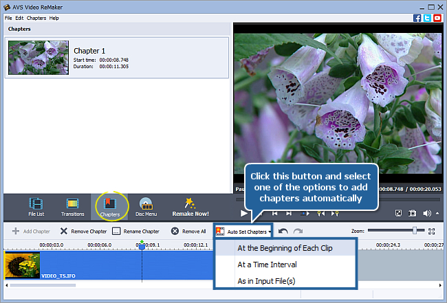 How to create a disc menu using AVS Video ReMaker? Step 4