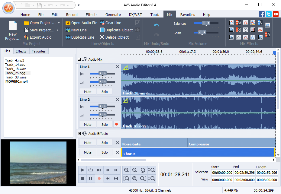 full video audio mixer free download