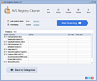 AVS Free Registry Cleaner. Click to see the full-size image.